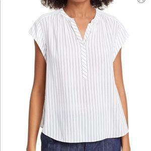 NWT JOIE Hassie Stripe Cap Sleeve Top